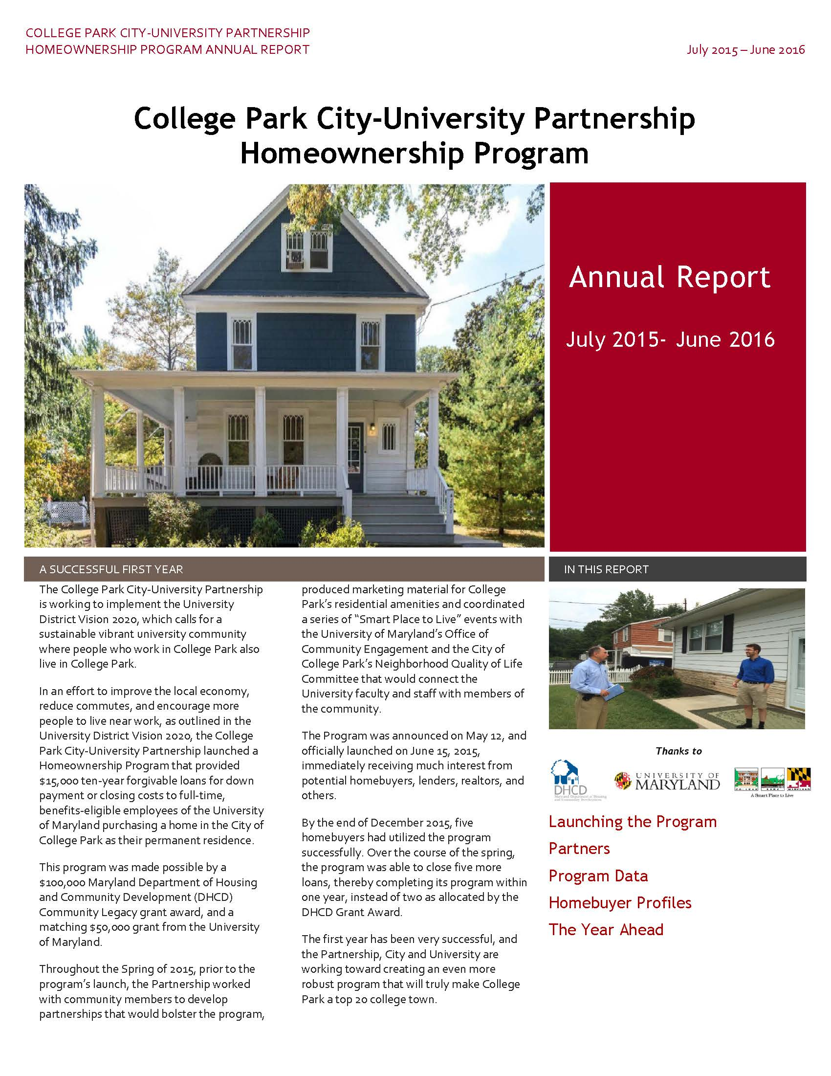 Partnership Homeownership Program FY'16 Annual Report_Page_1