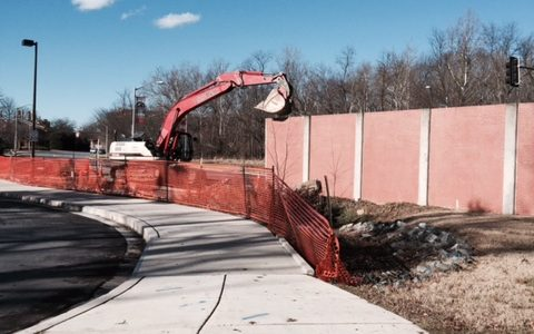 10 Panels Removed on Campus Drive, increasing trail accessibility
