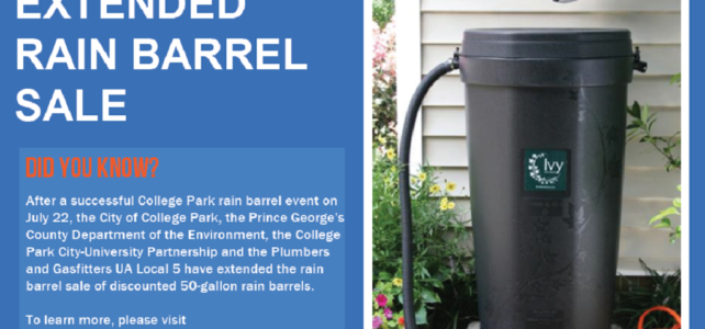 College Park Rain Barrel Extended Sale