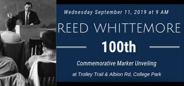 Whittemore Commemorative Marker Unveiling
